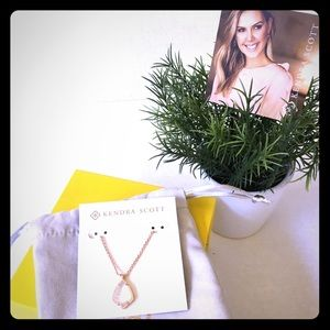 New Kendra Scott Cory Rose Gold Necklace pearl